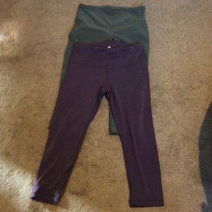Mondetta Pants - Mondetta green, yogalicipus purple yoga pants
